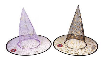 Фото Колпак ведьмы с паутиной (цвета микс)