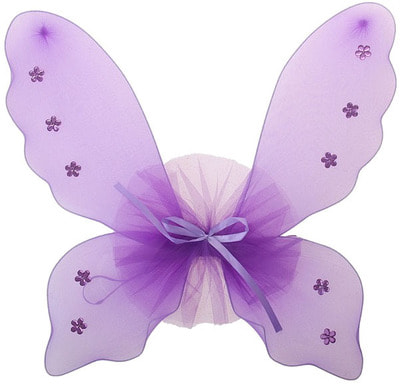 Фото Карнавальные крылья Бабочки со стразами детские