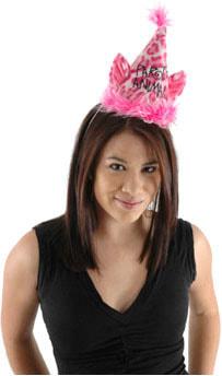 Фото Праздничный колпак Розовый леопард