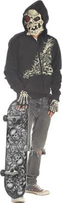 Фото Костюм Монстр-скейбордист (с черепами) детский