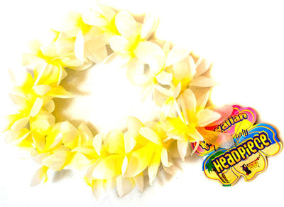 Фото Гавайский браслет желто-белый
