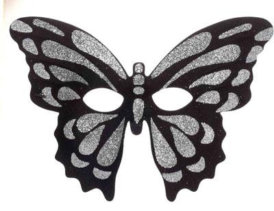 Фото Маска Серебристая бабочка