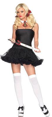 Фото Нижнее черное платье с пышным подолом взрослое взрослое