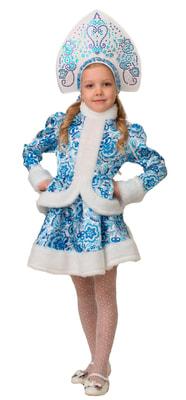 Фото Костюм Снегурочка Гжель с кокошником детский