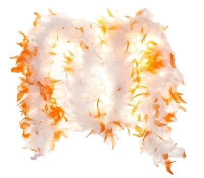 Фото Боа белое с оранжевым