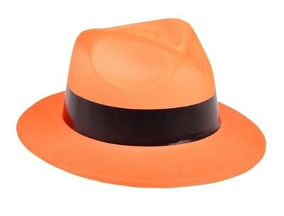 Фото Шляпа оранжевая с кантом