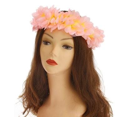 Фото гавайский венок Цветочки розовый