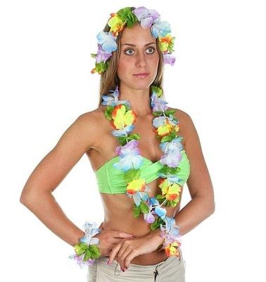 Фото Набор гавайский цветы