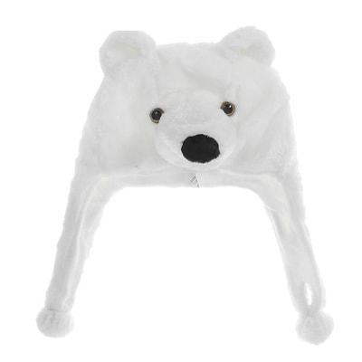 Фото Шапочка Белый мишка детская
