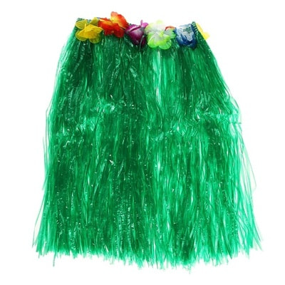 Фото Гавайская юбка зеленый взрослая
