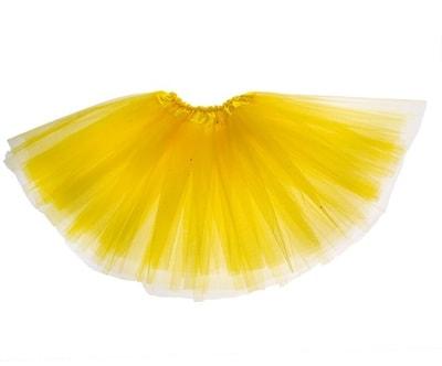 Фото Юбка трехслойная желтая детская