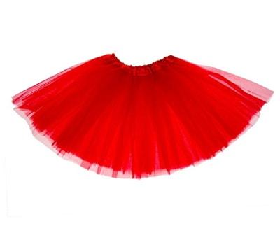 Фото Юбка трехслойная красная детская