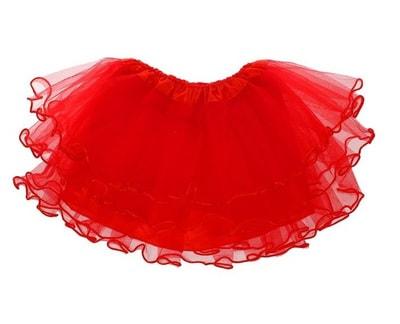 Фото Юбка четырехслойная красная детская