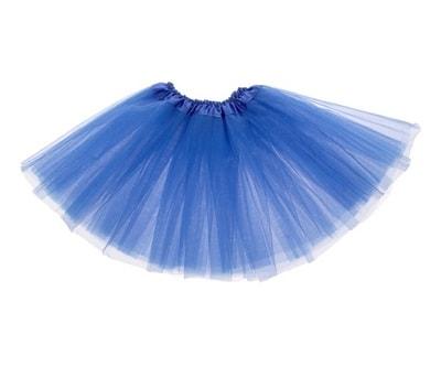 Фото Юбка трехслойная синяя детская