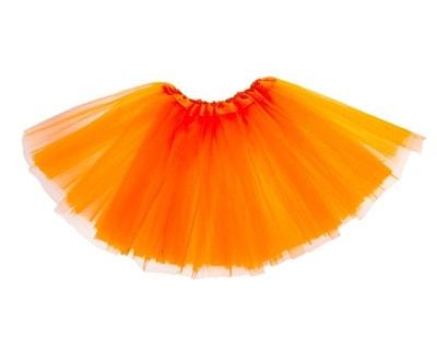 Фото Юбка трехслойная оранжевая детская
