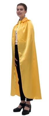 Фото Желтый атласный плащ с воротником
