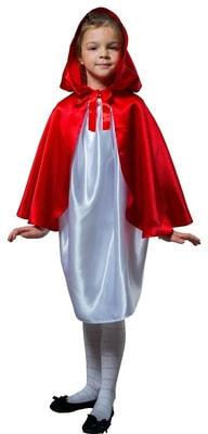 Фото Плащ красный короткий с капюшоном детский