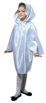 Фото Плащ белый короткий с капюшоном детский