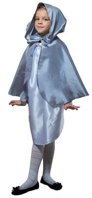 Фото Плащ серебристый короткий с капюшоном детский