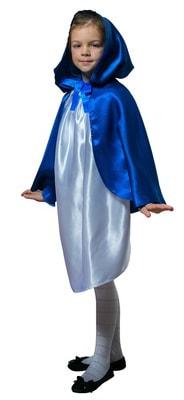 Фото Плащ синий короткий с капюшоном детский