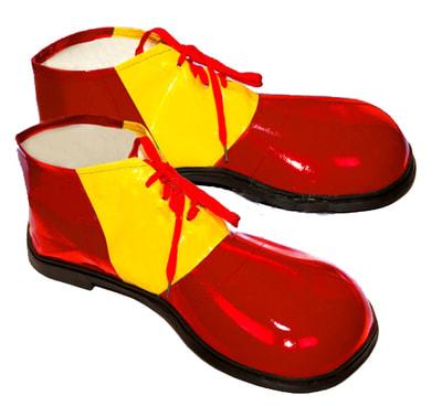 Башмаки Клоун красные ec196 купить в интернет-магазине - My-Karnaval.ru, доставка по России и выгодные цены