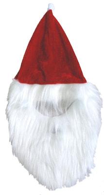 Фото Колпак с бородой для Деда Мороза