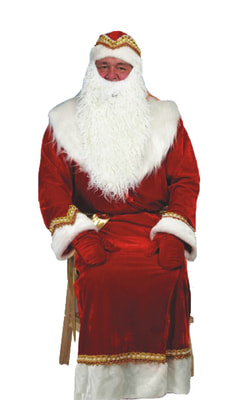 Фото Костюм Деда Мороза красный взрослый