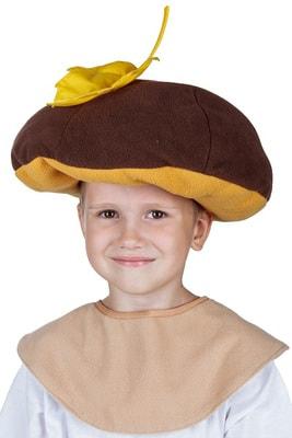 Фото Шапка гриб боровик детская