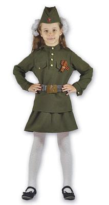 Фото Костюм военный для девочки