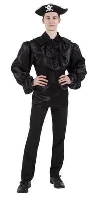 Фото Пиратская рубашка черная взрослая