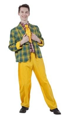 мужской костюм стиляги жёлтый