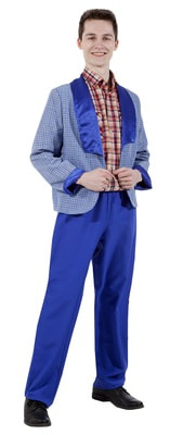мужской костюм стиляги синий
