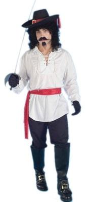 Фото Рубашка Отважного пирата (белая) взрослая