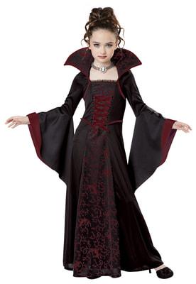Фото Костюм таинственная Королева вампиров детский