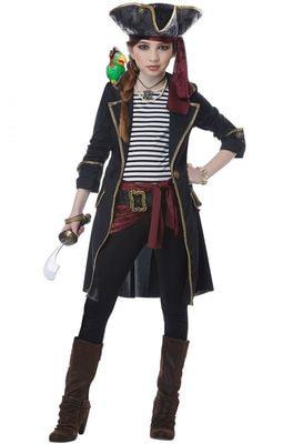 Фото Костюм Пиратка семи морей детский