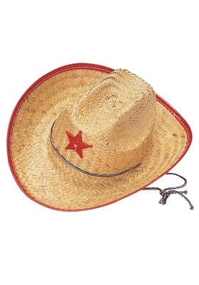 Фото Соломенная шляпа ковбоя детская