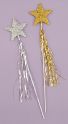 Фото Волшебная палочка звезда (золотая)