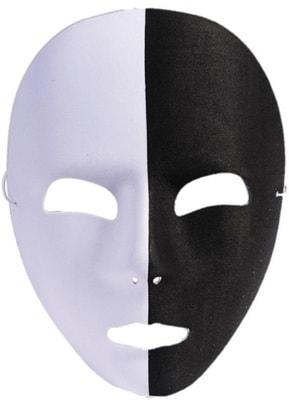 Фото Черно-белая маска