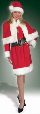 Фото Костюм Мисс Санта в платье взрослый