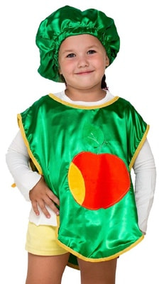Фото Костюм Яблоко в фартуке детский