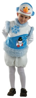 Фото Костюм Снежный снеговик детский