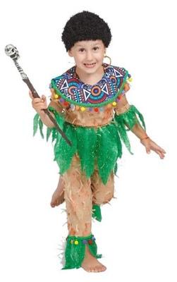 Фото Костюм Папуас в парике детский