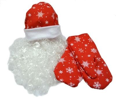 борода и варежки Деда Мороза