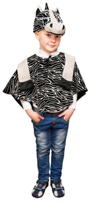 Фото Костюм Зебра в маске детский