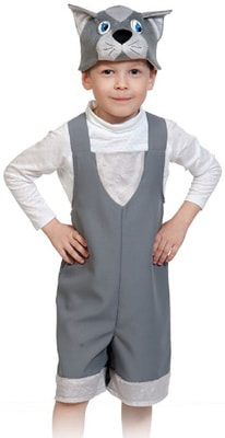 Фото Костюм Котик (серый) детский