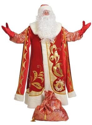 Костюм Дед Мороз (хохлома) взрослый