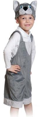 Фото Костюм Котик (серый) плюш детский