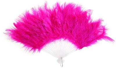 Фото Веер с пухом (розовый)