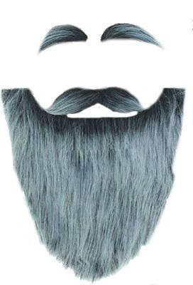 Фото Борода Старика с усами и бровями серая