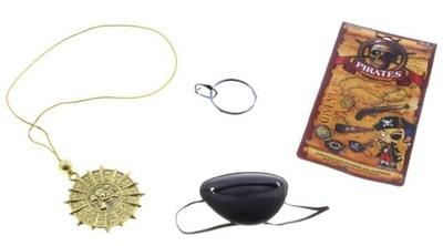 Фото Медальон и повязка на глаз смелого пирата